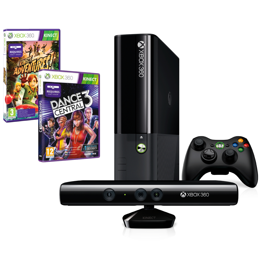 XBOX 360® Kinect Bundle 4GB Stingray + 2 x hra N7V-00054